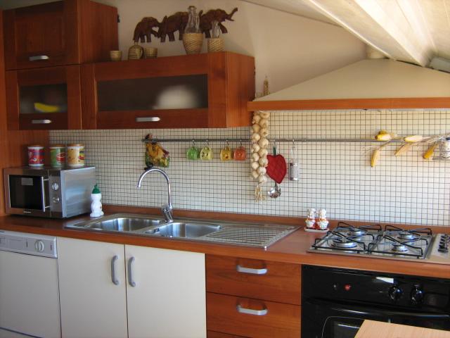 кухня оборудована всем необходимым от чайника до посудомоечной машины