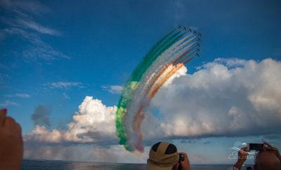 Авиашоу Frecce Tricolori в Джардини Наксос
